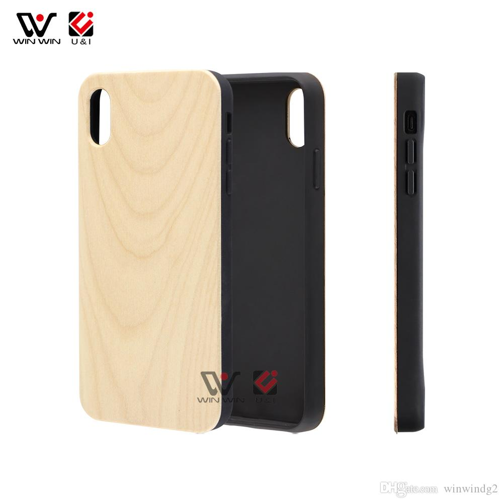 Водонепроницаемые чехлы для телефона для iPhone 6 7 8 Plus 11 12 Pro X XR XS MAX Wood TPU PC пустой пользовательский дизайн задняя крышка оболочки 2021 простота