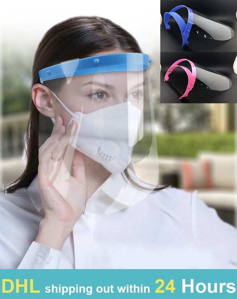 24 ore nave maschera protettiva contro spruzzata facciale sheild saliva polvere cappuccio trasparente head-mounted isolamento rimovibile visiera