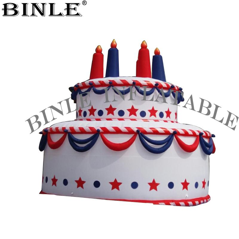 Brilliant 2020 Wonderful Giant Inflatable Birthday Cake With Candles Dessert Birthday Cards Printable Inklcafe Filternl
