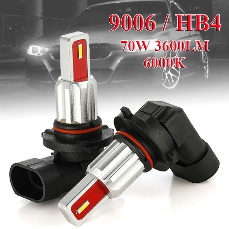 LED Phares anti-brouillard pour les voitures 2X 9006 CSP HB4 LED Fog Ampoule de phare Conversion Kit 70W 3600LM 6000K Blanc Tuning Car Universal