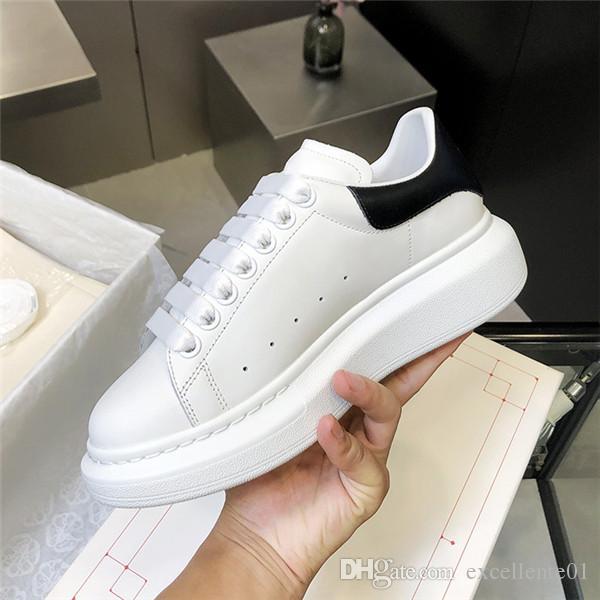 Nuovo eleganti scarpe Platform Shoes Mens delle donne da ginnastica in pelle piatte scarpe da sposa partito Casual Scarpe Sneakers Loveres