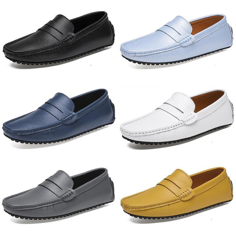 2020 Designer de luxo alpercatas homens mulheres sapatos casuais sapatos brancos pretos deslizamento plana sobre mens moda trainers sneakers tamanho 41-47 color16