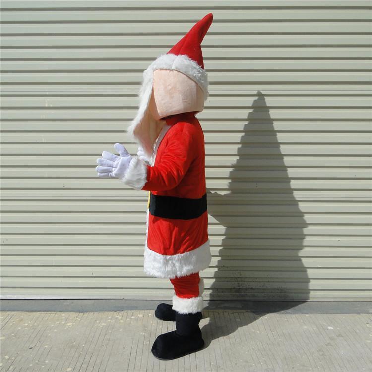 Wholesale-2018 Hochwertige erwachsene Weihnachtsmann-Cartoon-Maskottchenkostüme Weihnachtskleid für Partei gute Qualität freien Verschiffen kann individuell angepasst werden