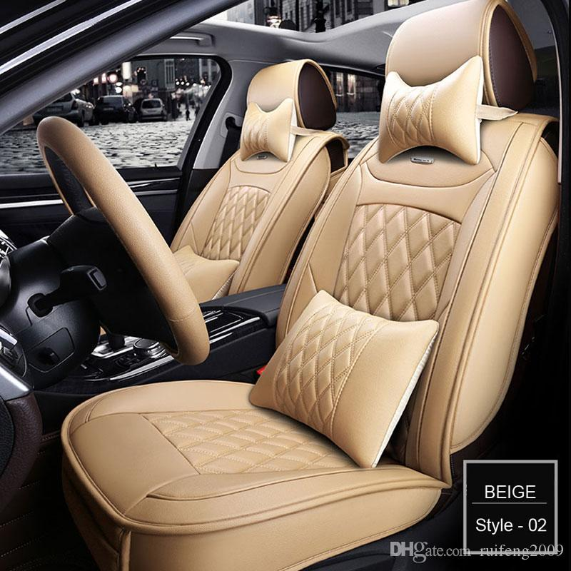 Cadillac Universal PU Leather car seat covers For Skoda Octavia Cadillac ATS CTS XTS SRX SLS Escalade Jeti car accessories car sticker