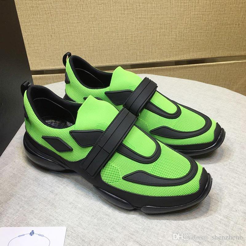 Prada 2019 New Fashion Uomo Scarpe Zapatos de hombre Casual Plus Size Leggero Lusso Gancio Loop Stile Uomo Scarpe Cloudbust Sneakers Drop Ship