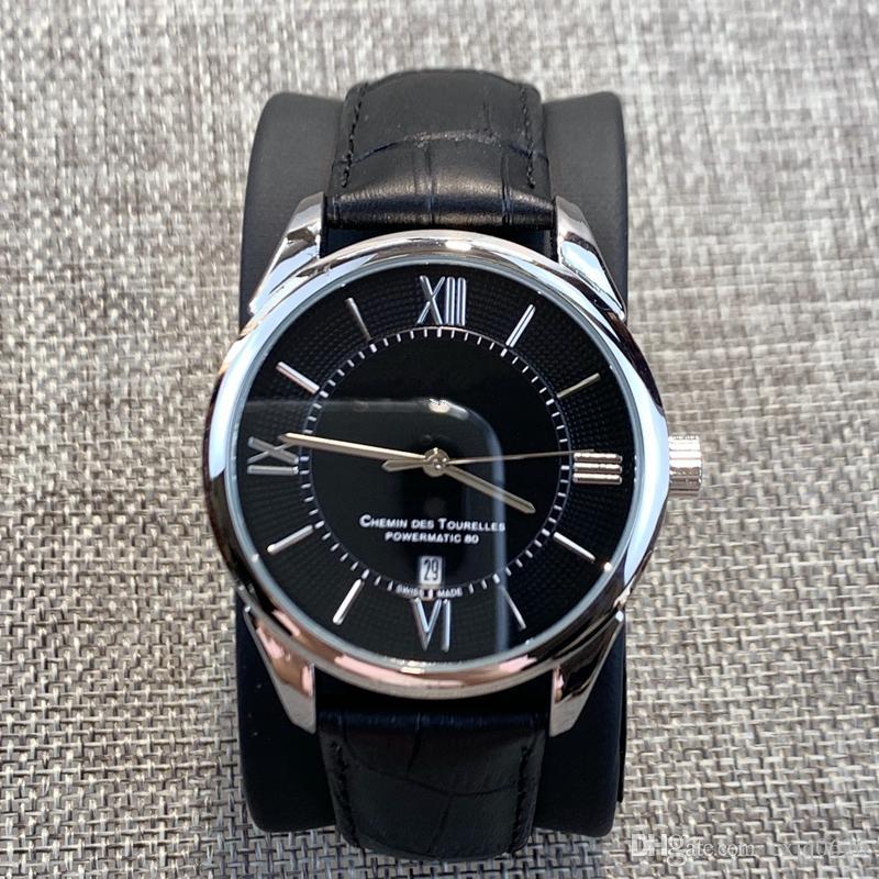 2019 En Kaliteli Lüks adam Deri Moda İzle Elbise İzle Klasik popüler İzle Spor saatı İyi kuvars oto tarih saatini satmak