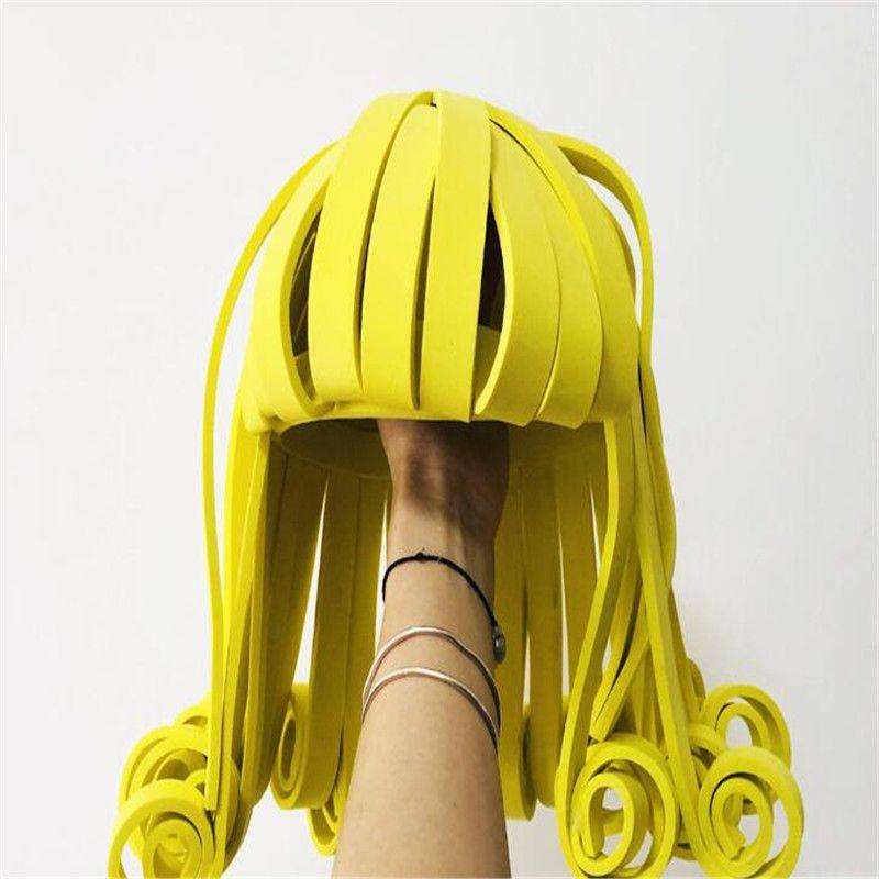 Y36 Partido cantor stage dança headpiece dj peruca trajes de palco modelos headwear vestido disco show hairs desempenho outfit vestir ds partido show