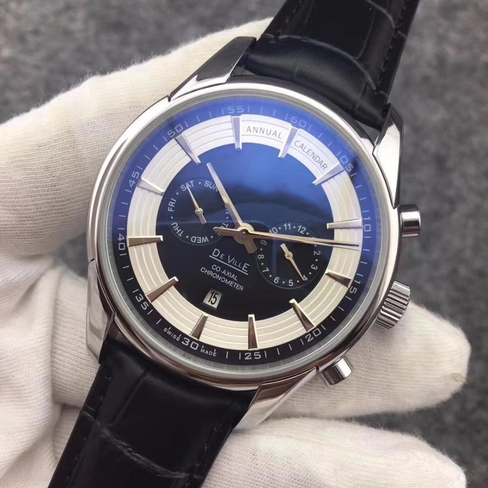 뜨거운 판매 패션 자동 해골 기계 남성 스테인레스 스틸 가죽 명품 시계 드레스 캐주얼 시계 Reloj 시계 손목 시계