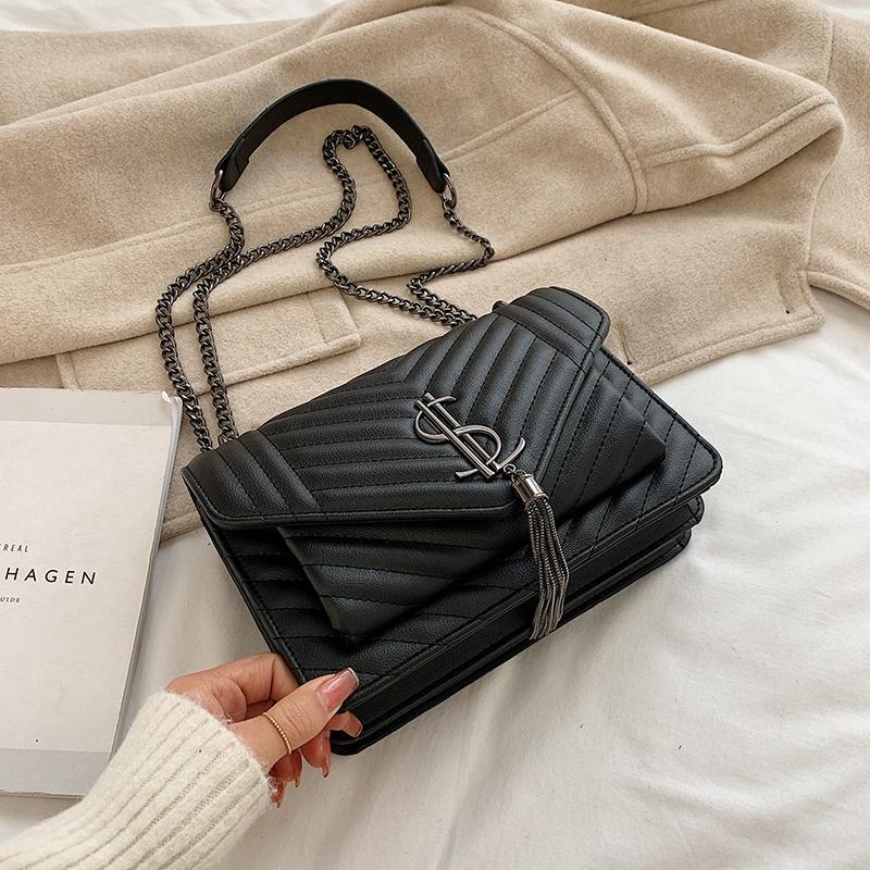 Delle donne di Lusso Del Progettista Borse Del Sacchetto Più Nuovo Stile di Modo famoso Borse Delle Donne di Cuoio Della Catena Della Nappa Borsa Delle Donne Crossbody Shoulder Bag