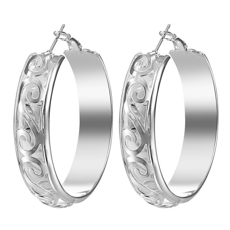 Классический корейский стиль цвета серебра серьги женщин способа обруч серьги ювелирные изделия Аксессуары для подружкой Валентина подарок