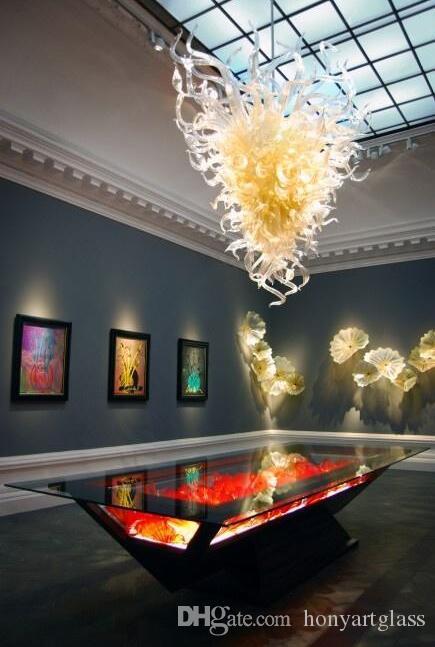Freie Verschiffen Fantasie Entwurf-preiswerte Anhänger-Licht Big Art Neuester Murano Glas Moderne Lampe auf Verkauf