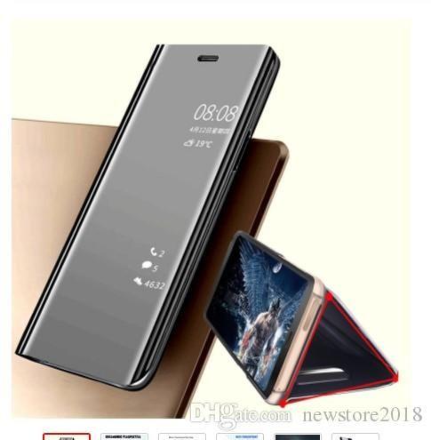 1 Adet Yeni varış Akıllı samsung S10e s7 s6 akıllı telefon durum için ayna Samsung Galaxy S9 S10 için çevirme 360 telefon kılıfı Artı net kapak