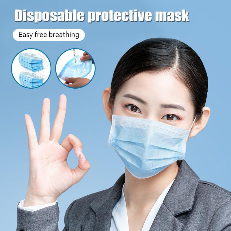 A prueba de polvo mascarillas desechables boca Earloop Cara Boca Máscaras de la cubierta de la nariz La protección no reutilizable