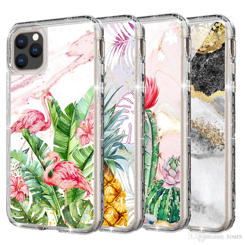 For Iphone 11 Case Luxury Glitter Defender Case 3in1 Heavy Duty Shockproof Full Body Protection Cover Phone Case For Iphone 11 Pro Max
