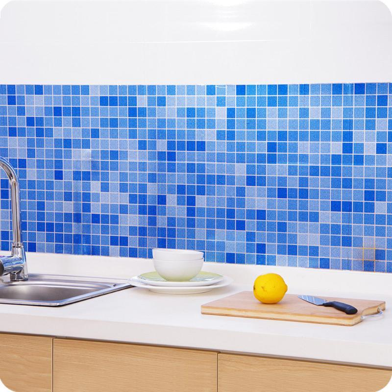 Wall Stickers The Bathroom Toilet Waterproof Self-adhesive Stickers Mosaic Tile Wallpaper Home Decor Art Wall Decals