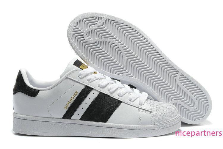 2019 Vente en gros Superstar New Low Mode Sneaker Fondation Hommes Femmes Chaussures Casual Sneaker classique Livraison gratuite