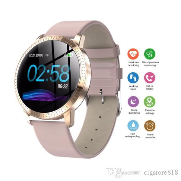 CF18 Farbe Bildschirm Smart-Armband 1,3 Zoll großen Bildschirm Wasserdicht Health Monitoring-Sport-Uhr Smartwatch Women Band