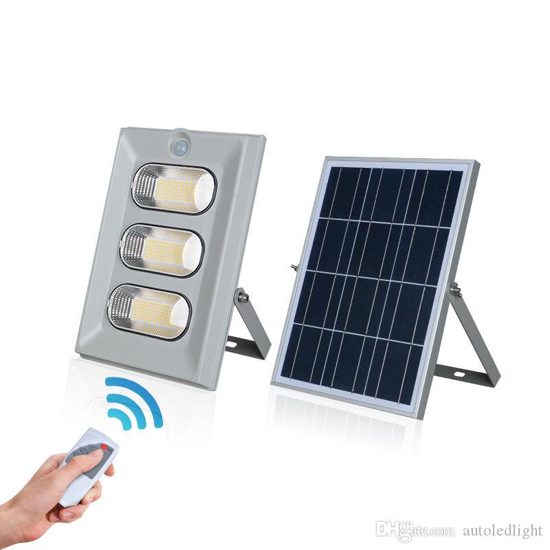 Luz de inundación de iluminación LED solar al aire libre 50W 100W 150W solar impermeable IP67 luces solares del jardín con el control remoto