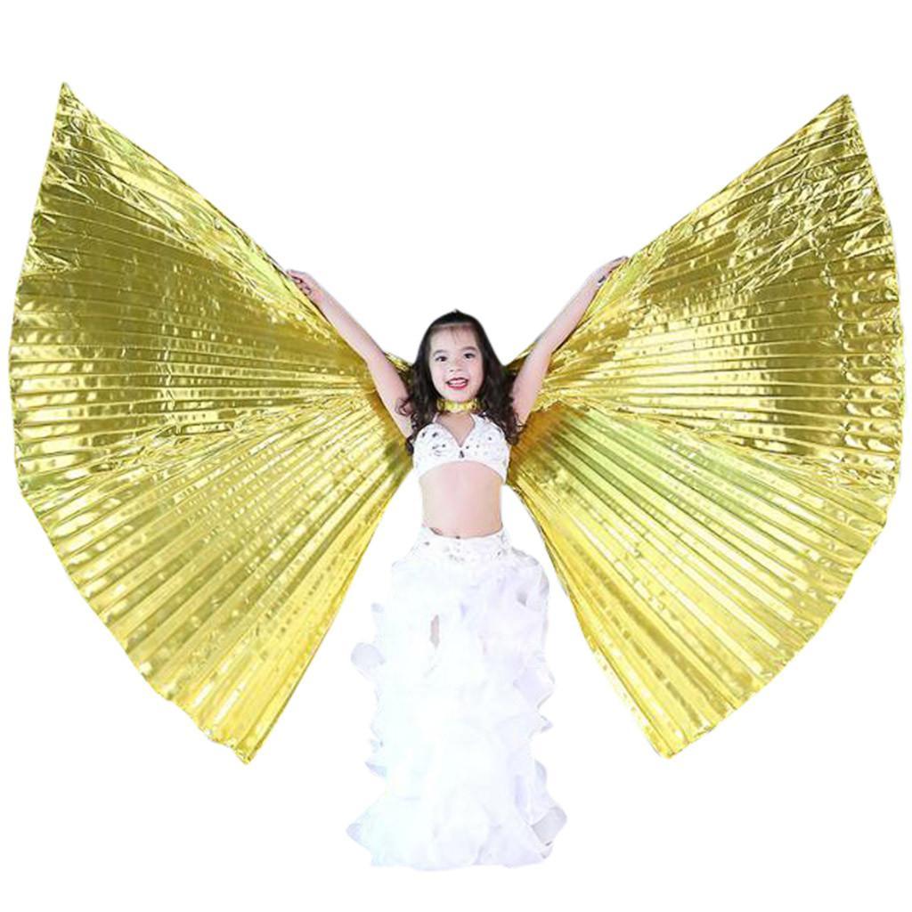 Bldance Bambina Ali di Iside Costume da Ballo Halloween Prestazione Festa con Bastoni