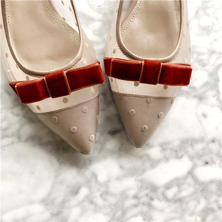 Yeni Mesh Heeled Dantel Sandalet Çok Renkli Peri Işıklar Yapay elmas Saf Renk Süet Flats Mules Kadın Ayakkabı