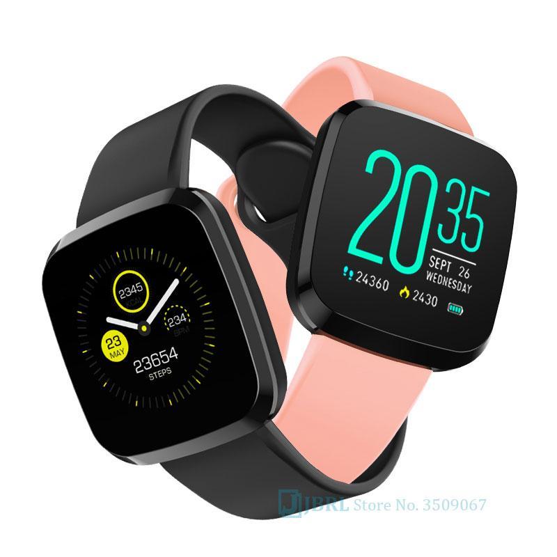 Carré Bracelet en silicone femmes LED Wristwatch regarder les sports Podomètre appareil photo numérique à distance Montres mens Horloge Foir Androd IOS