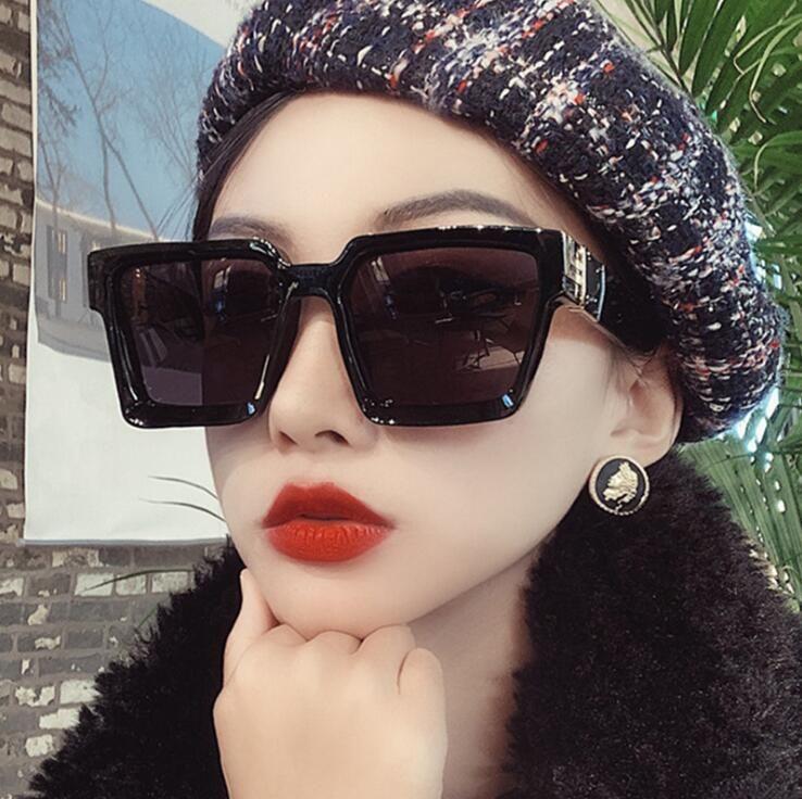 Женщины Увеличенные площади Солнцезащитные очки 2020 Новая мода Brand Designer Солнцезащитные очки Мужчины Vintage Big кадр очки для наружного óculos UV400 Оттенки