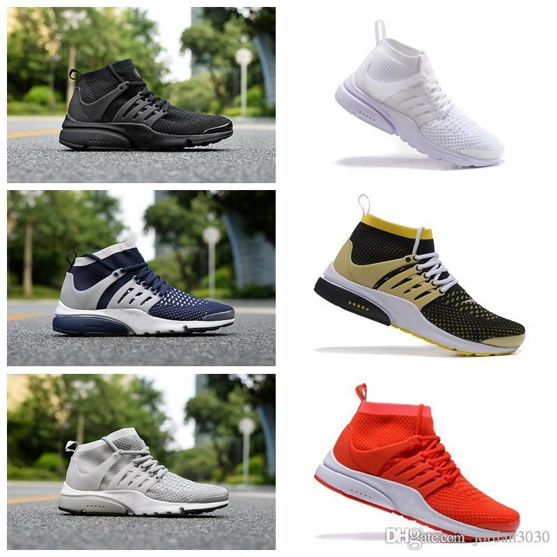 Nike Pristo Flyknit Nuove 2019 presti 5 Scarpe da corsa Presto Donne Uomini Ultra BR QS Giallo Rosa Oreo all'aperto Moda Jogging scarpe da tennis Formato Gli Stati Uniti 5,5-12