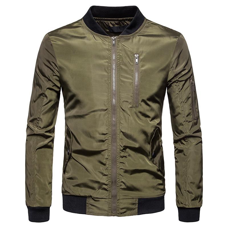 HEFLASHOR Jacket Casaco Homens Moda Outono Zipper Sportswear manga comprida Carga Casacos Casacos Jacket 2019 Autumn para Male