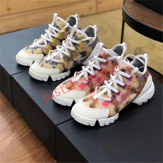 2020 Hococal hot Classic Women Designer Sneaker in Multi-colored Neoprene Platform Lace-up Running Retro Trainers Girl Vintage Shoes Height