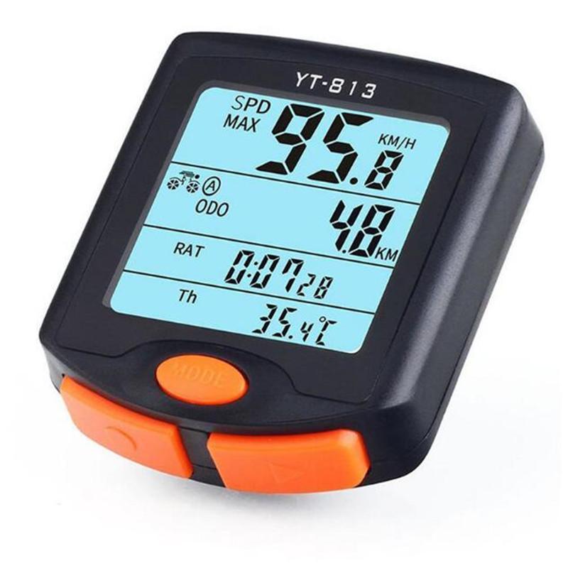 BOGEER Waterproof Bicycle Computer Wired MTB Bike Cycling Odometer Stopwatch Speedometer Watch LED Digital Speed Meter YT-813