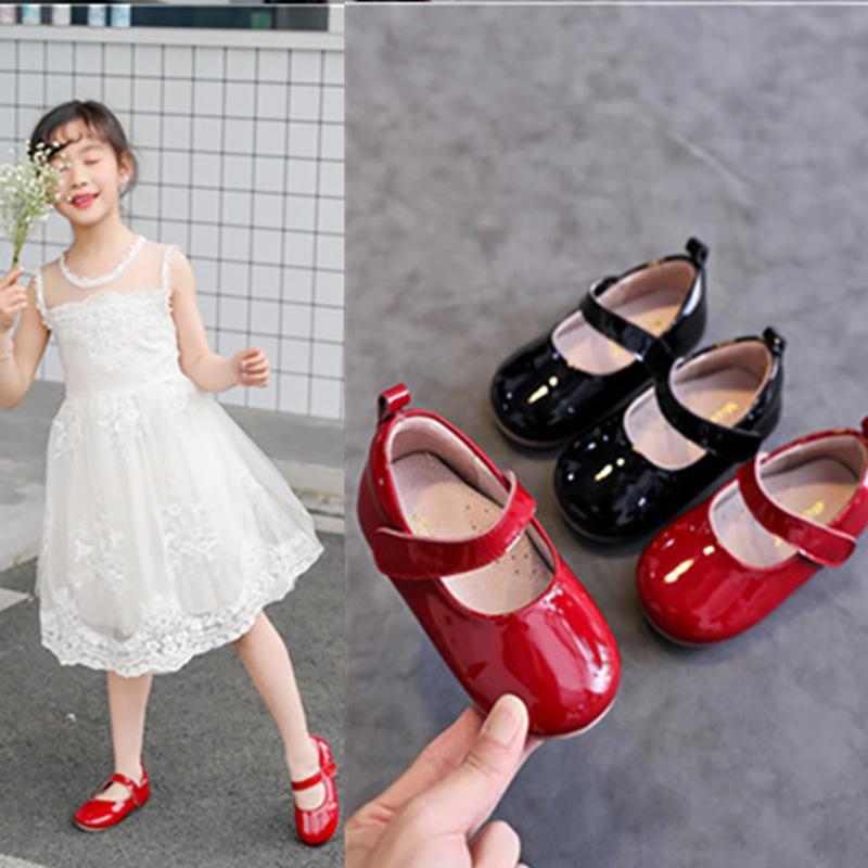 Dolakids Primtemps nouvelle couche supérieure chaussures en cuir de vache chaussures en cuir à la main princesse coupé cuir véritable 1-6 ans