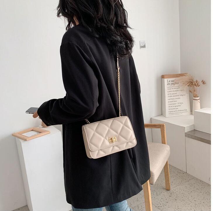 Neue koreanische Version der Mode schräge kleine quadratische Tasche kleinen Duft Umhängetasche