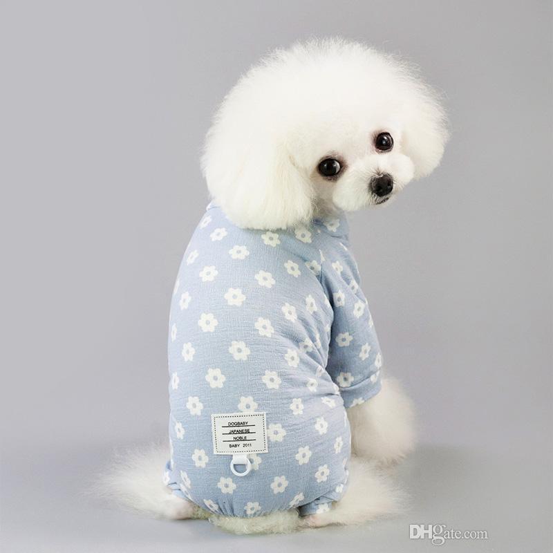 Estate Pet vestire piccolo puppy cane gatto vestiti per i pantaloni a quattro zampe Skirt abbigliamento costume vestiti simpatico cane xl fiore si veste per i cani DHL