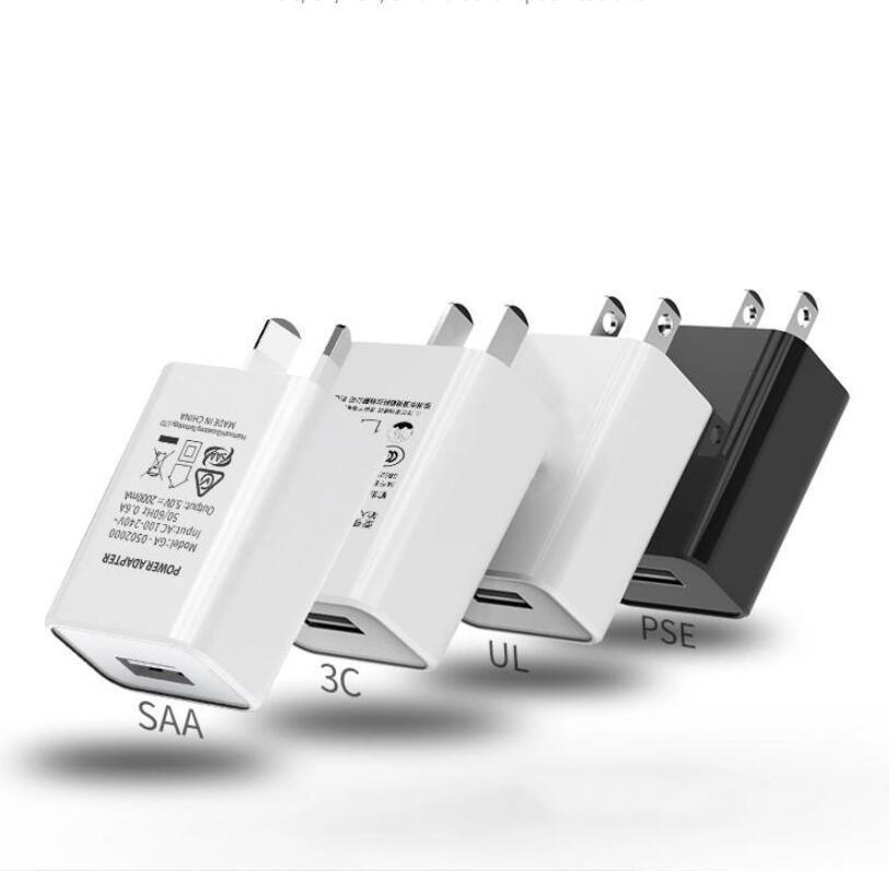 5V 1A 2A USB зарядного устройство Япония AU Travel Wall SAA PSE сертификация электронных подключите Стабильное зарядное устройство черные белым