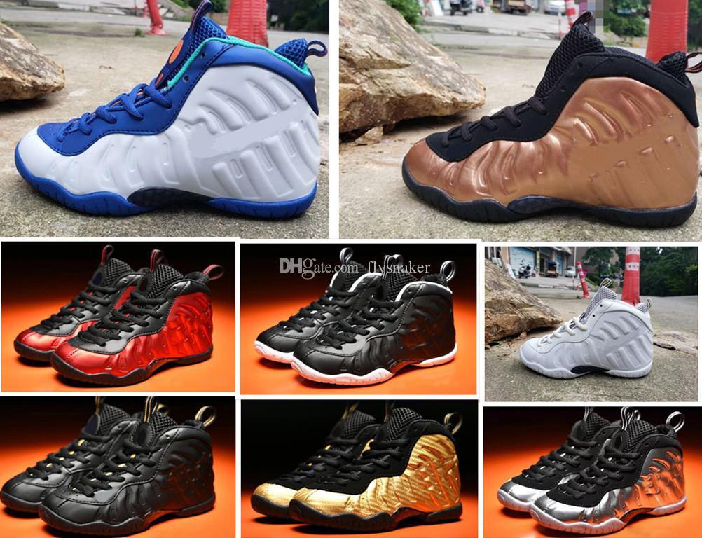 Penny Hardaway Kids Basketball Chaussures de basket Pippen Enfant Sports Sneaker Sneaker Boy Fille Enfants Enfants Enfants Entraîneur Baby Anniversaire Cadeau 11C-3Y