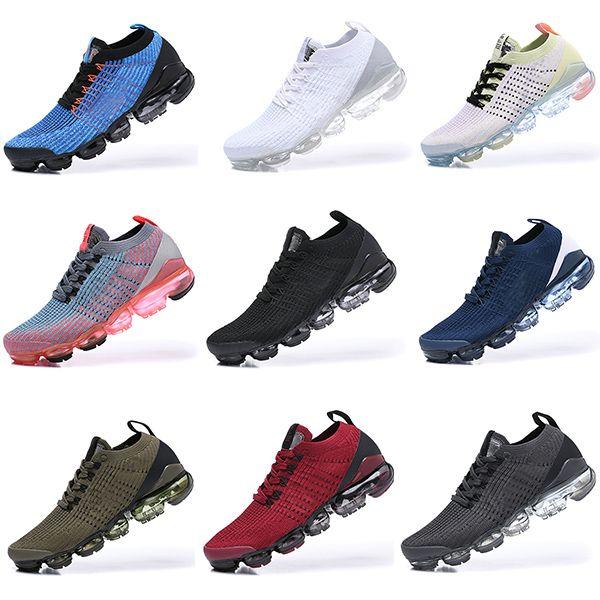 2019 달리기 유틸리티 남성 러닝 신발 최고의 품질 검은 무연탄 화이트 반사 실버 할인 신발 스포츠 스니커즈 크기 40-45
