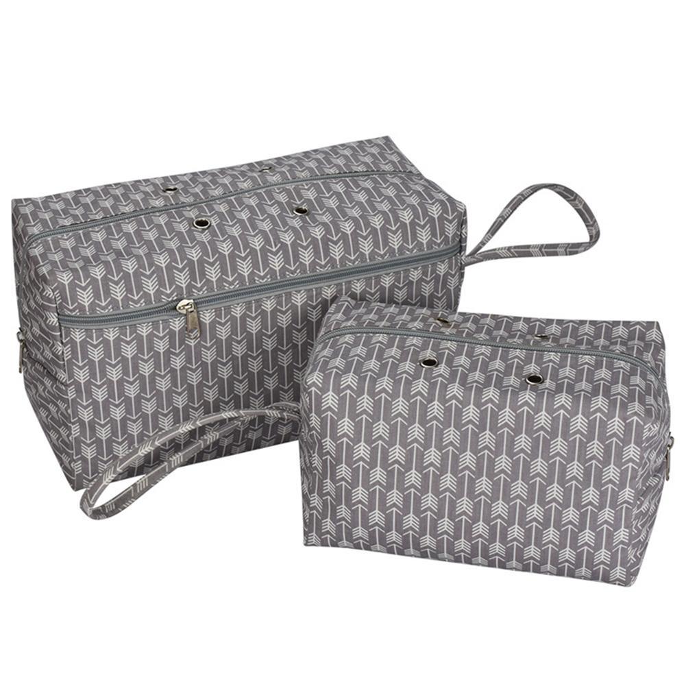 Diviseur Crocheting Outil de tricotage Grommet Porte-fil Voyage Zipper coton Portable fourre-tout à coudre Organisateur sac de rangement boîte Accueil