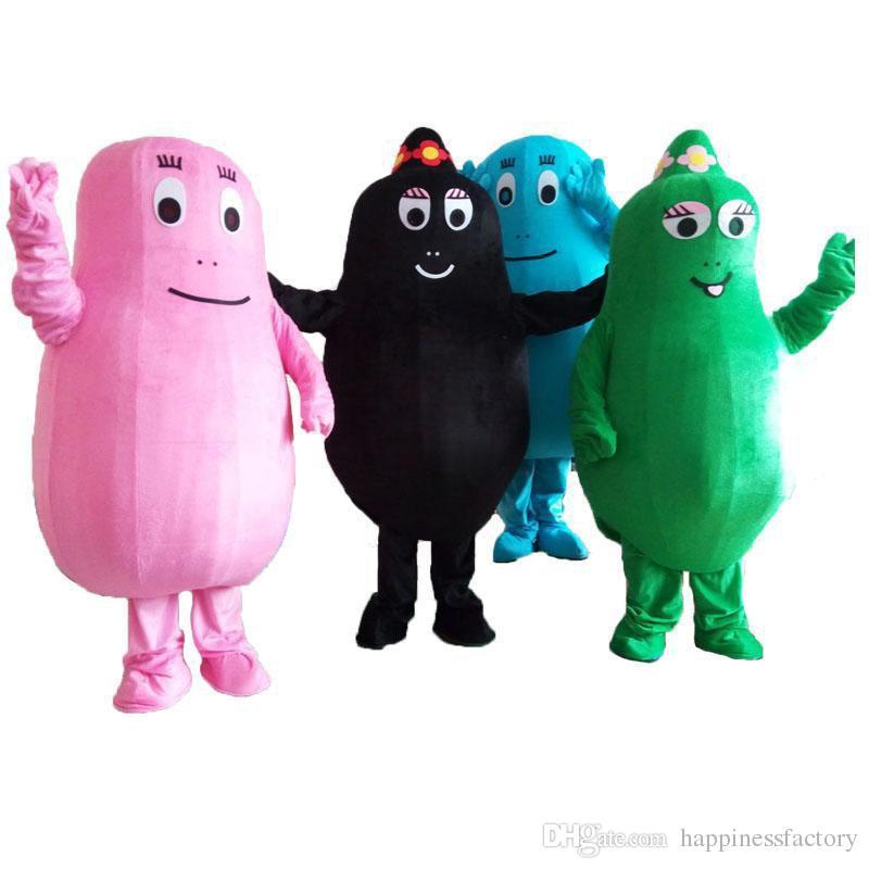 2019 Discount factory sale pink BarbaPapa mascot costume lovely beard papa adult Mascot cartoon character suit EMS free shipping