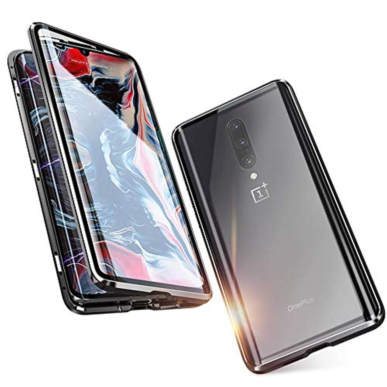 Оптовая закаленное стекло магнитный полный экран защитный + металлический алюминиевый корпус для OnePlus 7 Pro 6T 6 крышка жесткий Caso Fundas