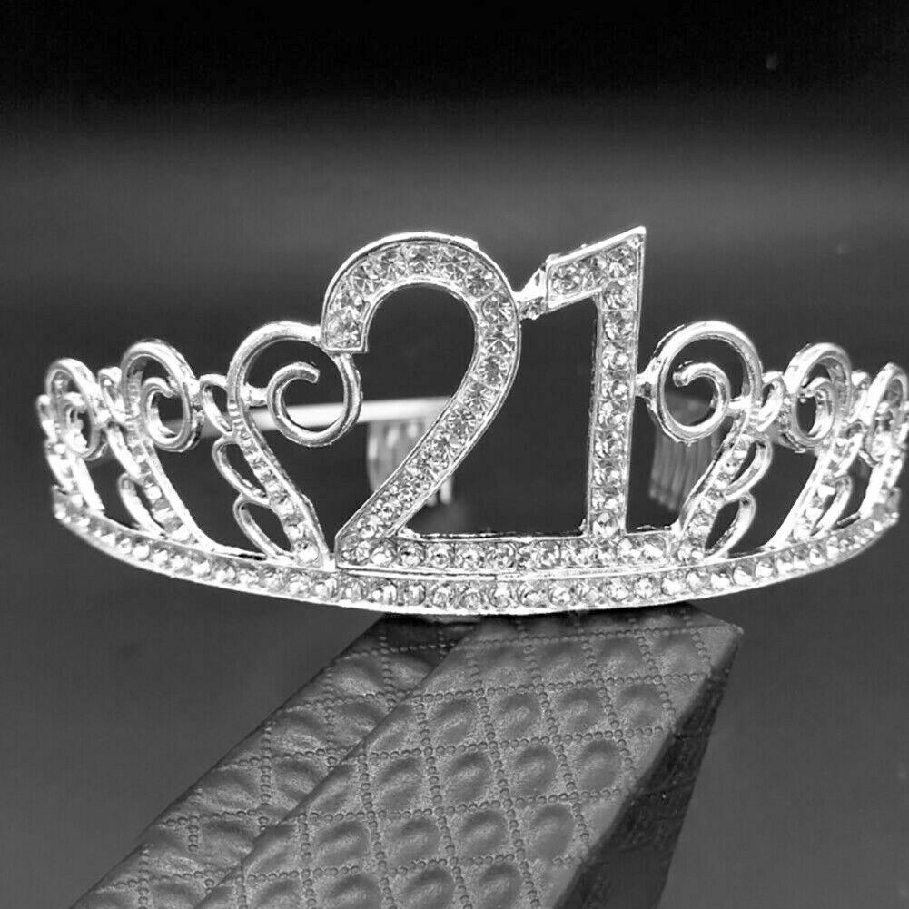 Birthday Tiara Digital Hat Rhinestone Crown Party Headband Decor Anniversary UK