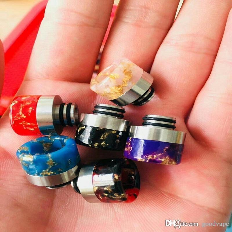 Nuovo colorato largo foro 510 Drip Tip resina Drip Tips Bocchino Fit EGO ONE Vaporizzatore 1453 TFV8 BAMBINO serbatoio atomizzatore di alta qualità vendita calda