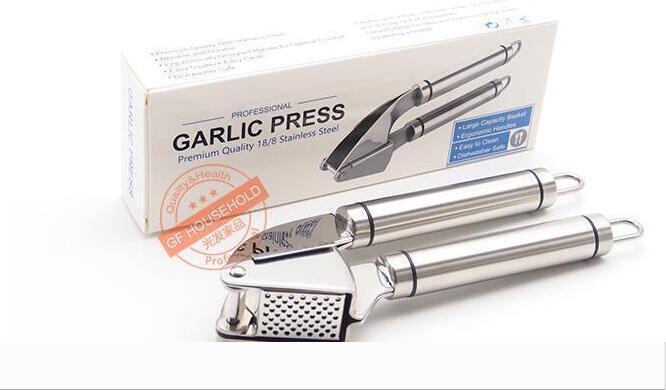 Knoblauchpresse und Peeler-Bürsten-Satz Mincer Werkzeug Crusher Edelstahl-Küche-Profi Ginger Presser Grillers Knoblauchpresse Bürste DHL 77
