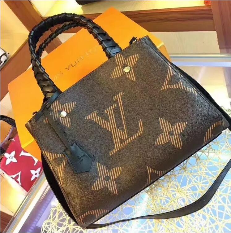 2020 borse del progettista donne di modo Borse borse a mano corsa di alta qualità vera pelle borse della borsa a tracolla Tote femminili Borse con tag 75