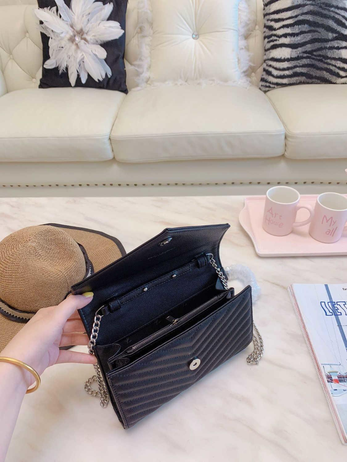 ang Wholesale-high Quality Top Women Genuine Leather Handbag Shoulder Bags Luxury Fashion Clutch Messenger Bag Hand Sac Main Femme