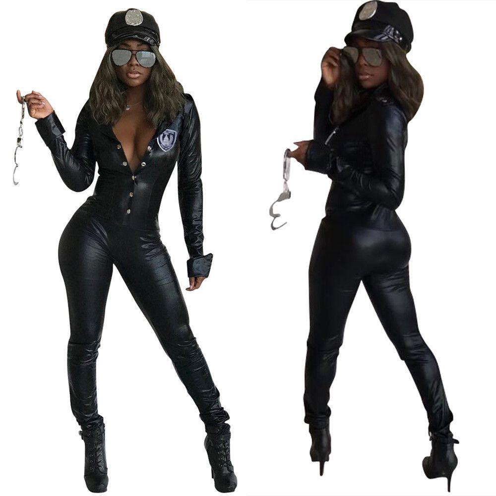 Kadınların seti Giyim patlama modelleri deri İnce kişilik PU deri tulum Kadınlar Giyim İki Parça Setler 2 adet