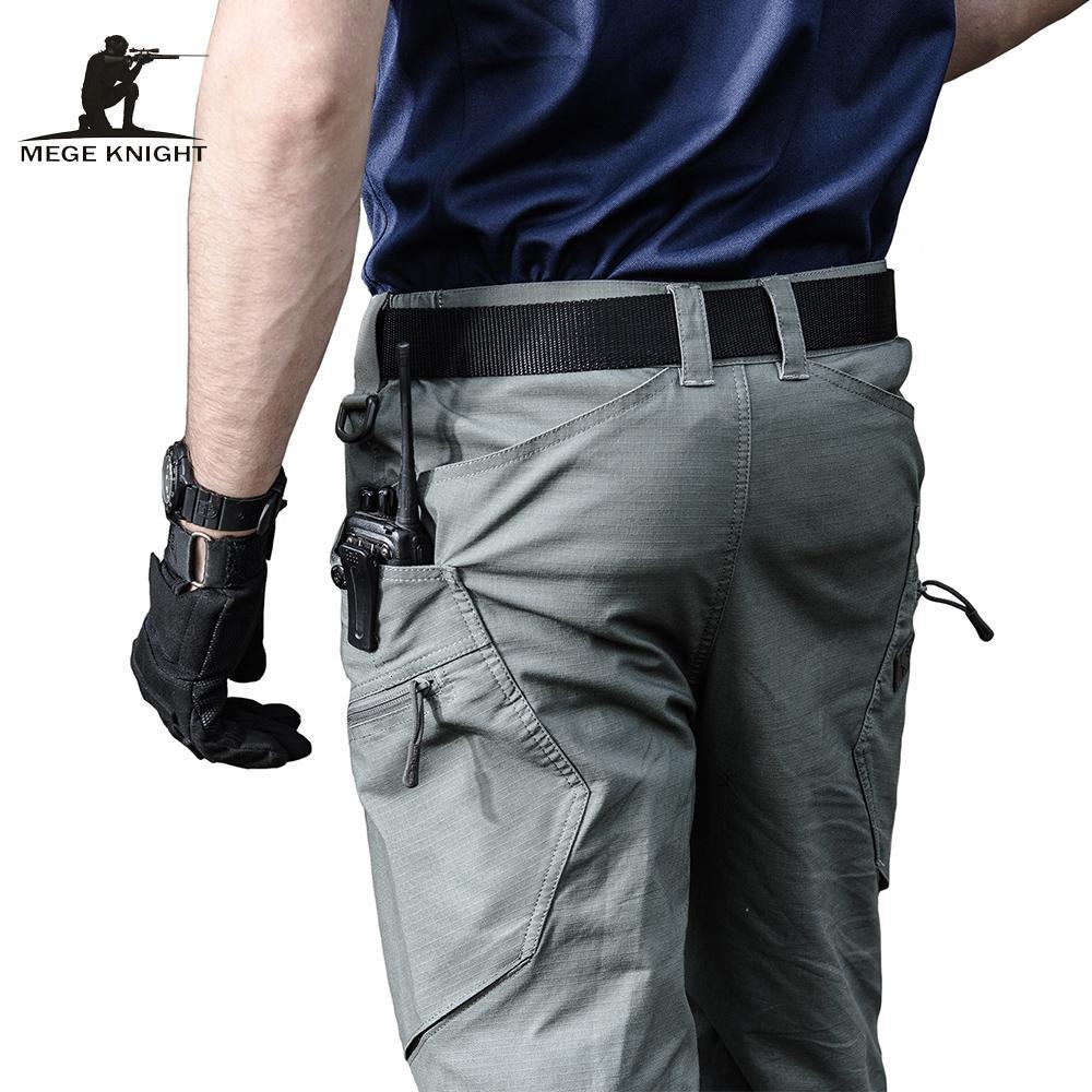 Mège Marque militaire de l'Armée Pantalons Vêtements pour hommes Urban Tactical Combat Pantalons multi poches Pantalons simple uniques Ripstop FabricLY191112