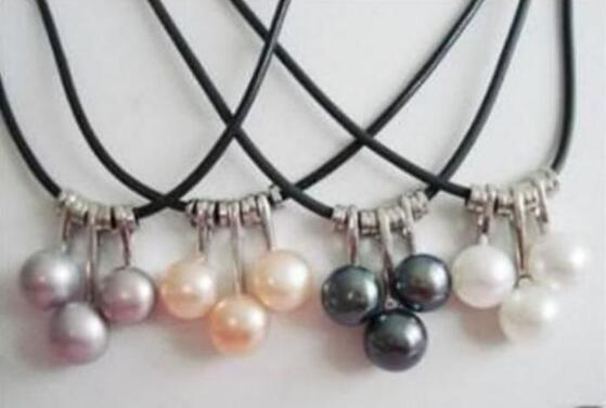 Jewelryr Pearl Set WHOLESALE 4 SET 4 COLOR AKOYA CULTURED PEARL NECKLACE Free Shipping