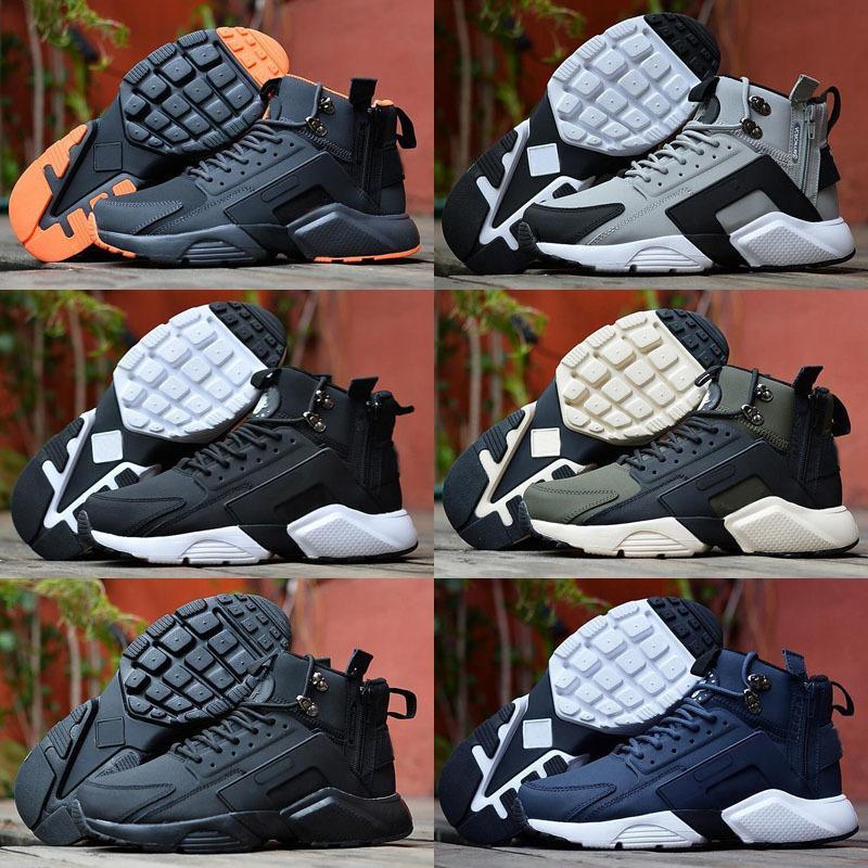 6 huarache x acrônimo cidade mid couro de alta qualidade huaraches tênis de corrida homens huraches sneakers hurach zapatos tamanho 7-11