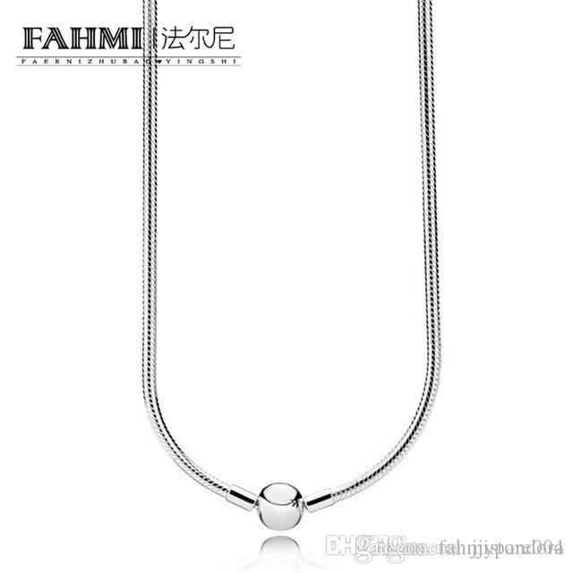 HYWo 100% 925 590742HV silver moments necklace colorful Gorgeous Glamorous women jewelry gift Original