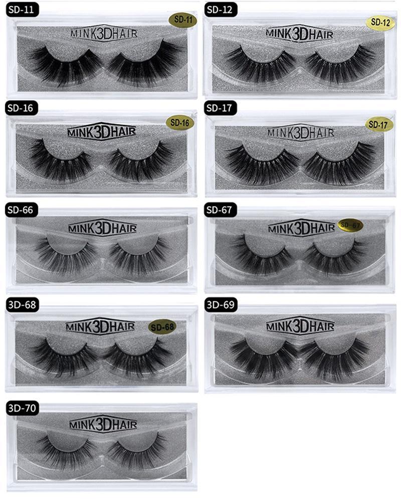 3D Eyelashes 20 Styles Selling 1pair/lot 3D Full Strip False Eyelash Long Individual Eyelashes Multi-layer Thick Lashes